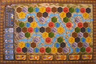 Plansza do gry planszowej Terra Mystica