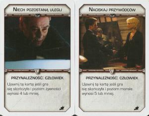 Battlestar Galactica: Świt, karty motywów