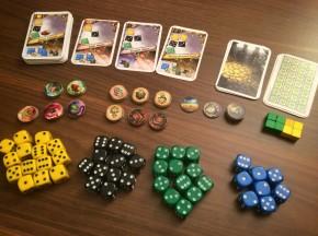 Dice Brewing - karty, kości i żetony - zdjęcie prototypu