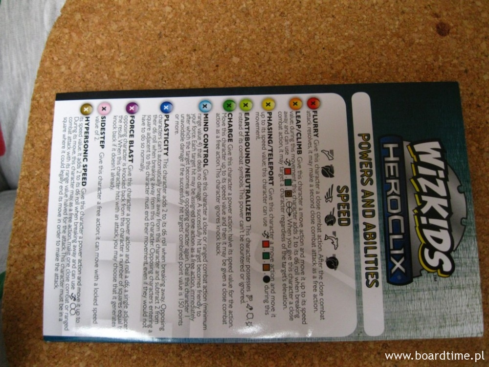 Karta mocy Heroclix