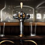 DICE Brewing - gra mobilna o warzeniu piwa. Nalewanie piwa (tło).