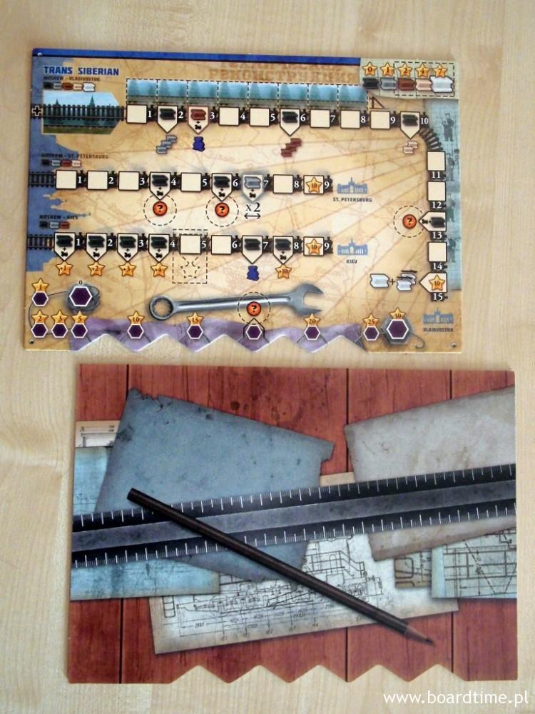 Plansza gracza i jej rewers