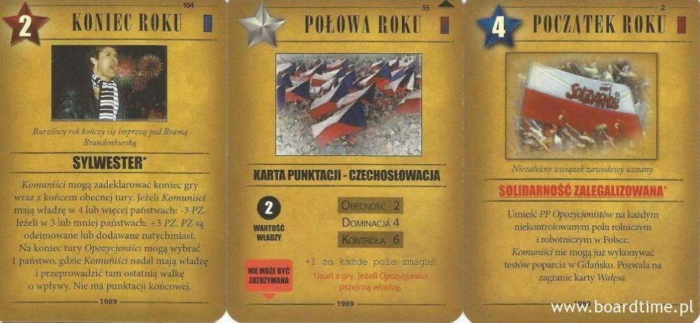 gra planszowa 1989 Jesień Narodów - karty