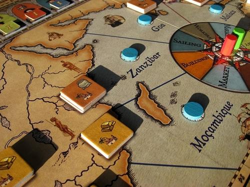 Navegador - przygotowanie gry (źródło BGG)