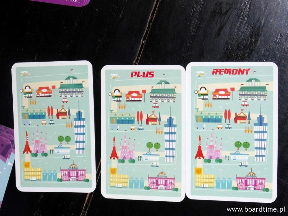 Trzy różne rewersy kart