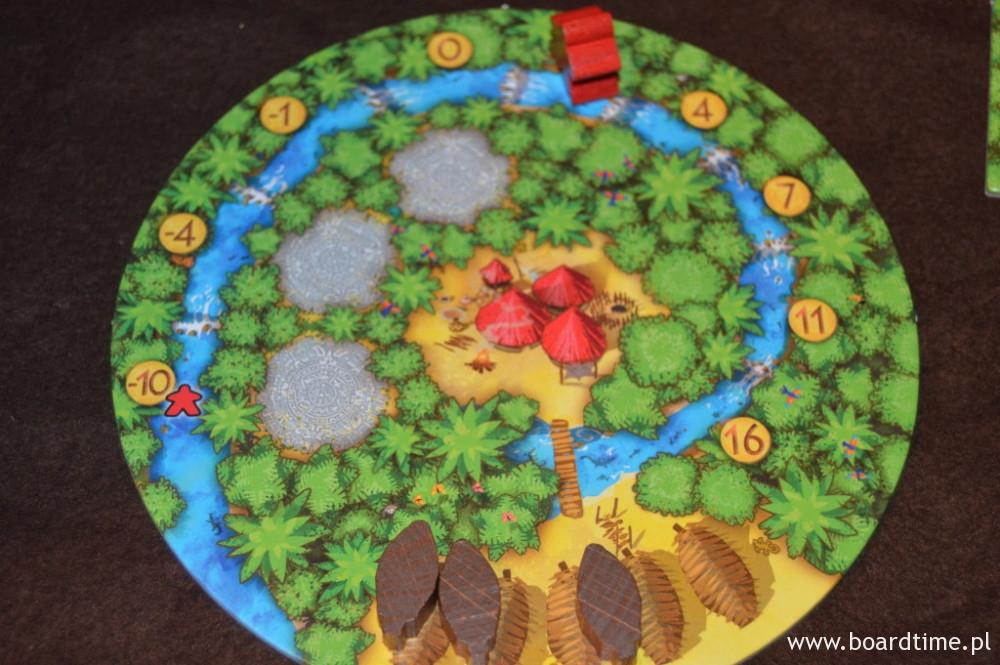 Gra Kakao - plansza wioski i pionek nosiwody