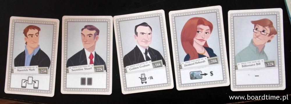 Niektóre karty inwestorów