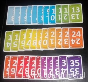 Kolorowa tęcza kart