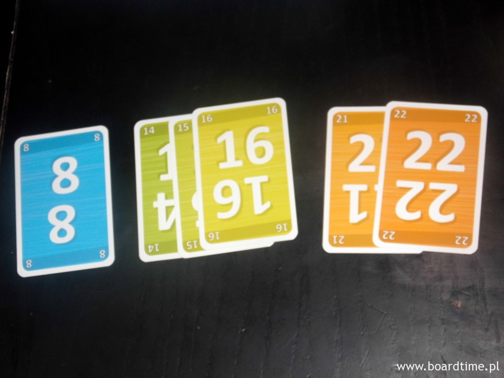 Punkty za karty: 8 + 14 + 21 (oczywiście ujemne)