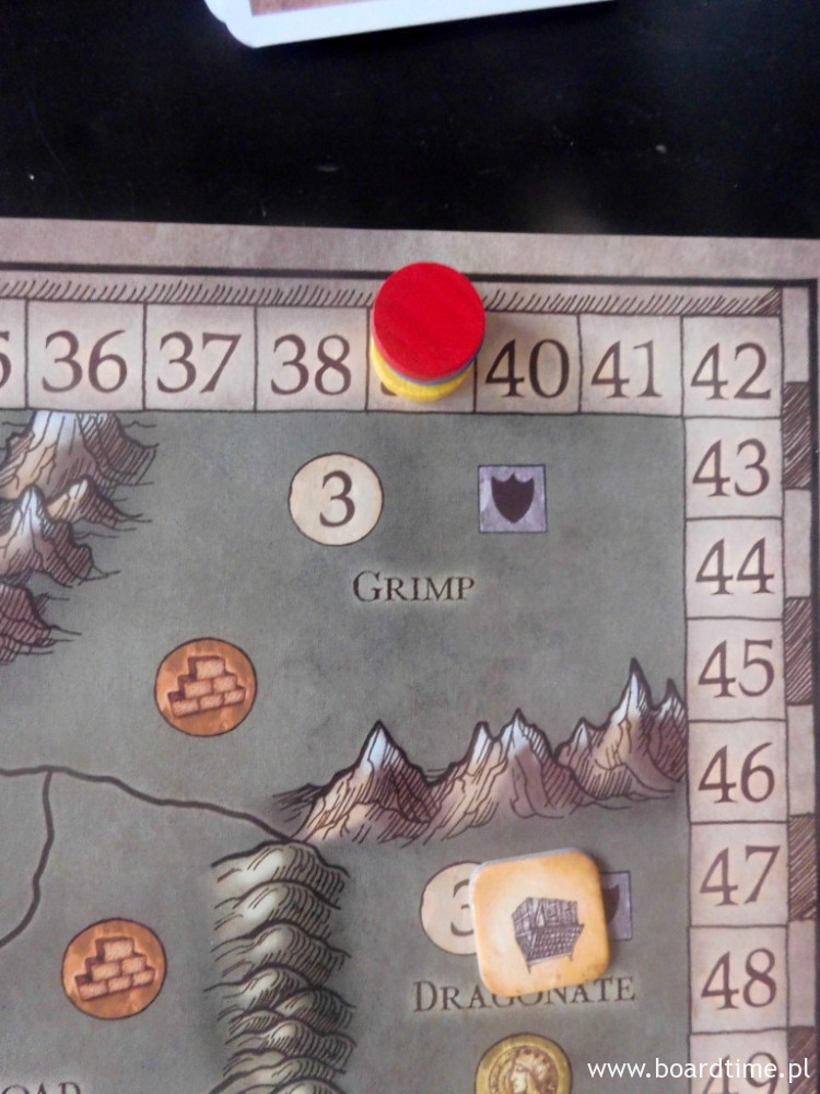 Sytuacja punktowa pod koniec jednej z rozgrywek w 3 osoby