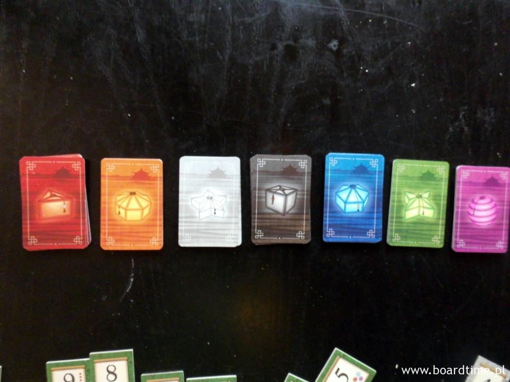 Zestaw 7 kolorów kart