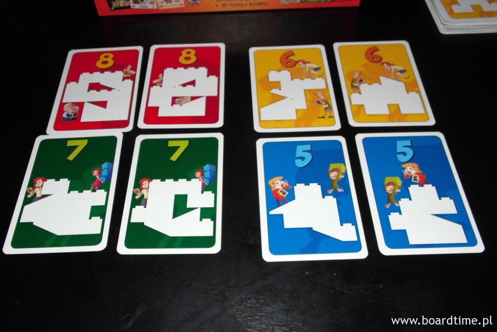 4 poziomy trudności  (kart kształtów jest łącznie 144)