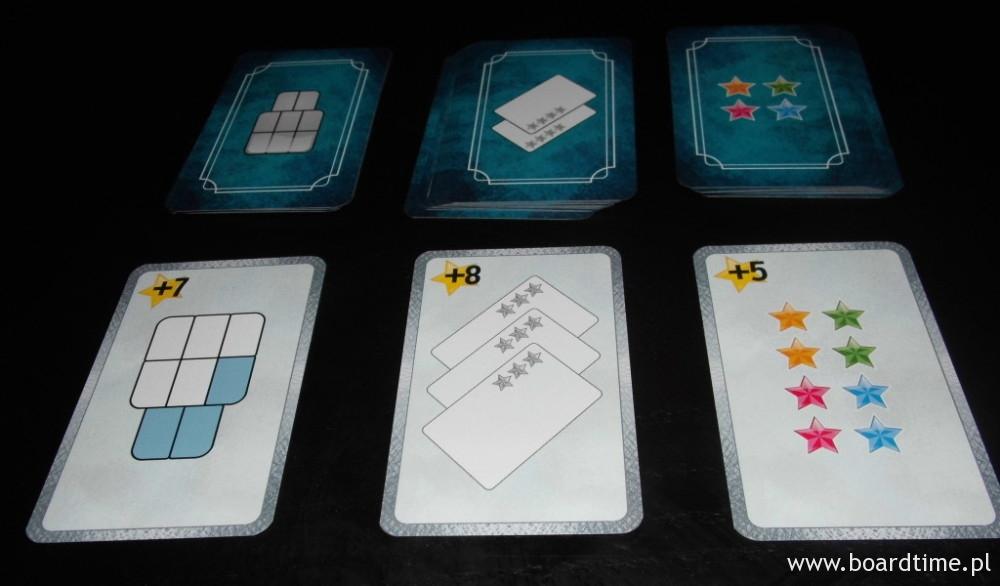 Przygotowane do gry karty celów