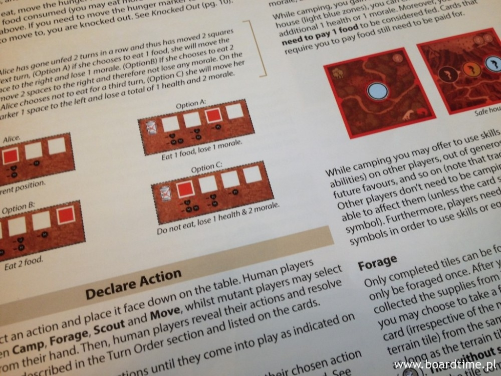 Instrukcja do gry - 12 stron kolorowych zasad, wraz z licznymi przykładami