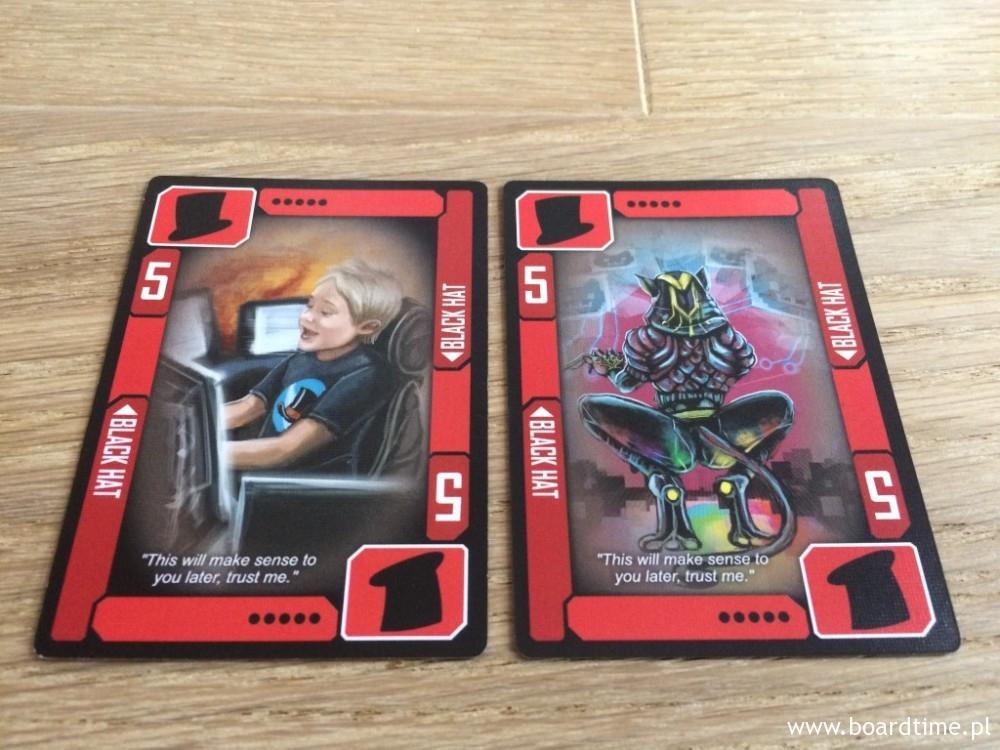 Karty tytułowego Czarnego Kapelusza