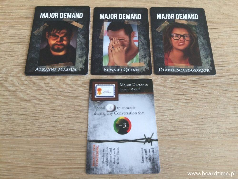 Karty podstawowych żądań porywaczy