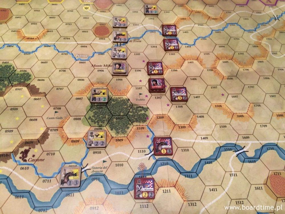 Tolentino - obie armie są już blisko siebie. Lada moment nastąpi wymiana ciosów.