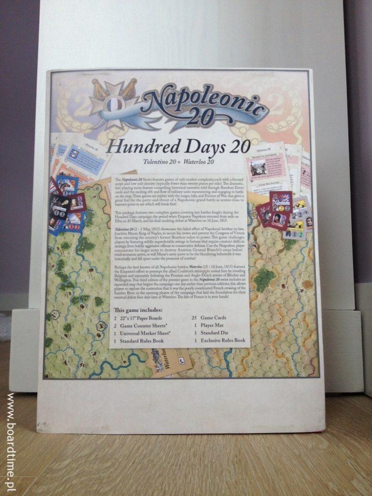 Z tyłu pudełka znajdziemy opis gry, krótki rys historyczny obu bitew oraz listę komponentów