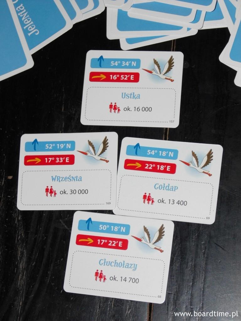 Informacje z tyłu karty