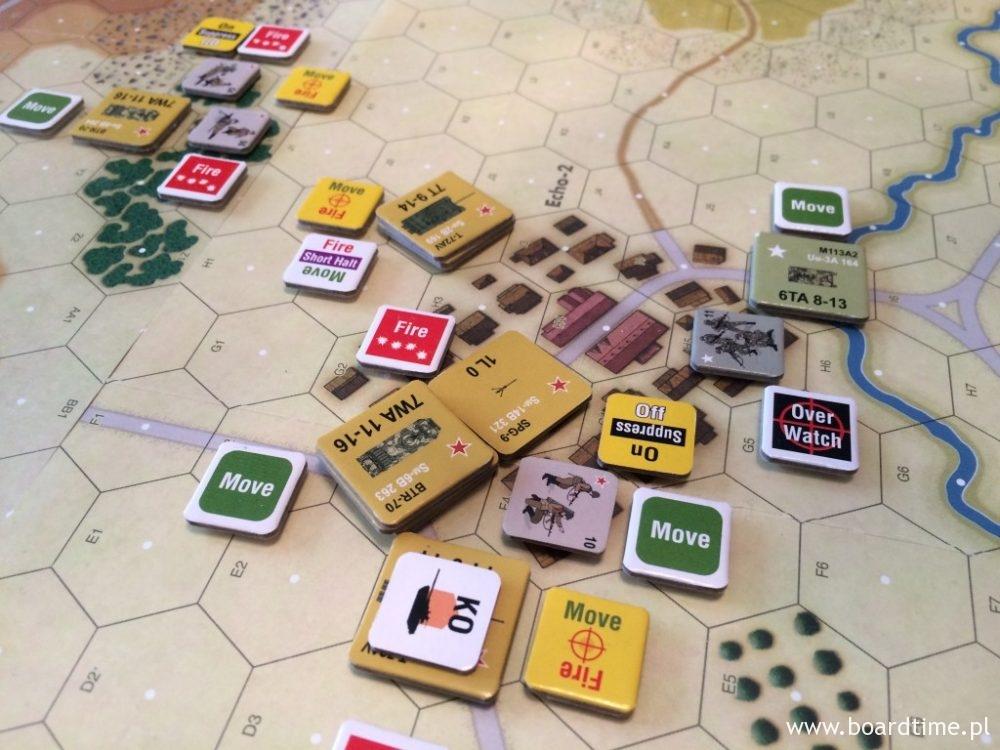 """Jednym z efektów ostrzału piechoty może być """"Suppression"""" - oddział, którego to dotknie ma zredukowaną skuteczność prowadzenia ognia i wypatrywania"""