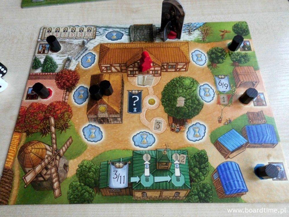 Plansza wioski na początek gry