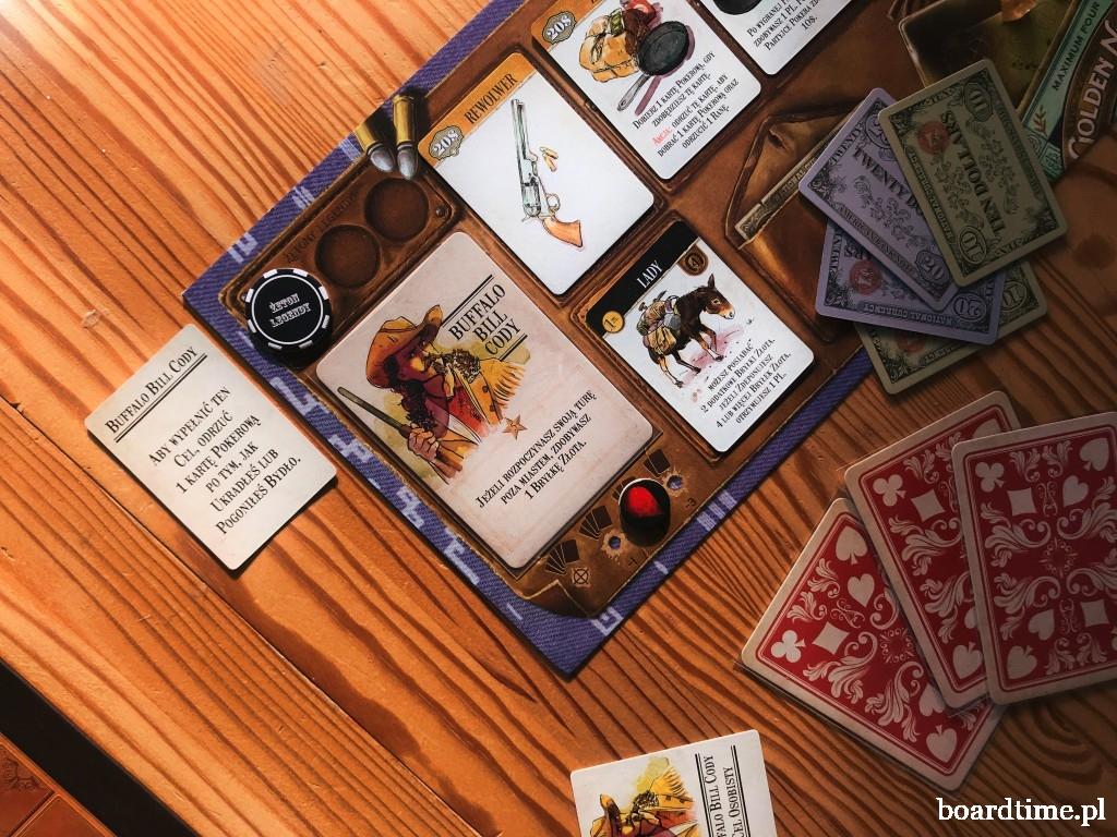 Plansza gracza w wariancie z Kartami celów