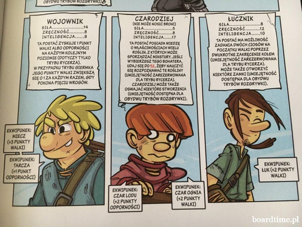 Rycerze 3 - komiks paragrafowy - wybór bohatera