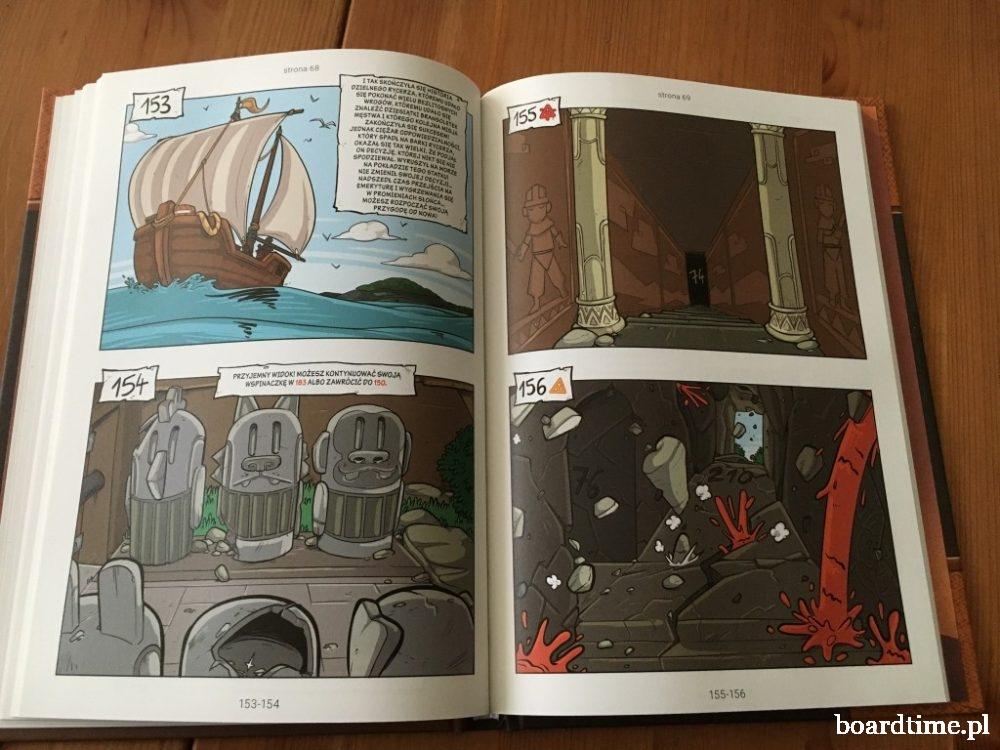 Rycerze 3 - komiks paragrafowy - przykładowe strony