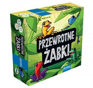 Najlepsze gry planszowe dla dzieci - Przewrotne Żabki - Granna